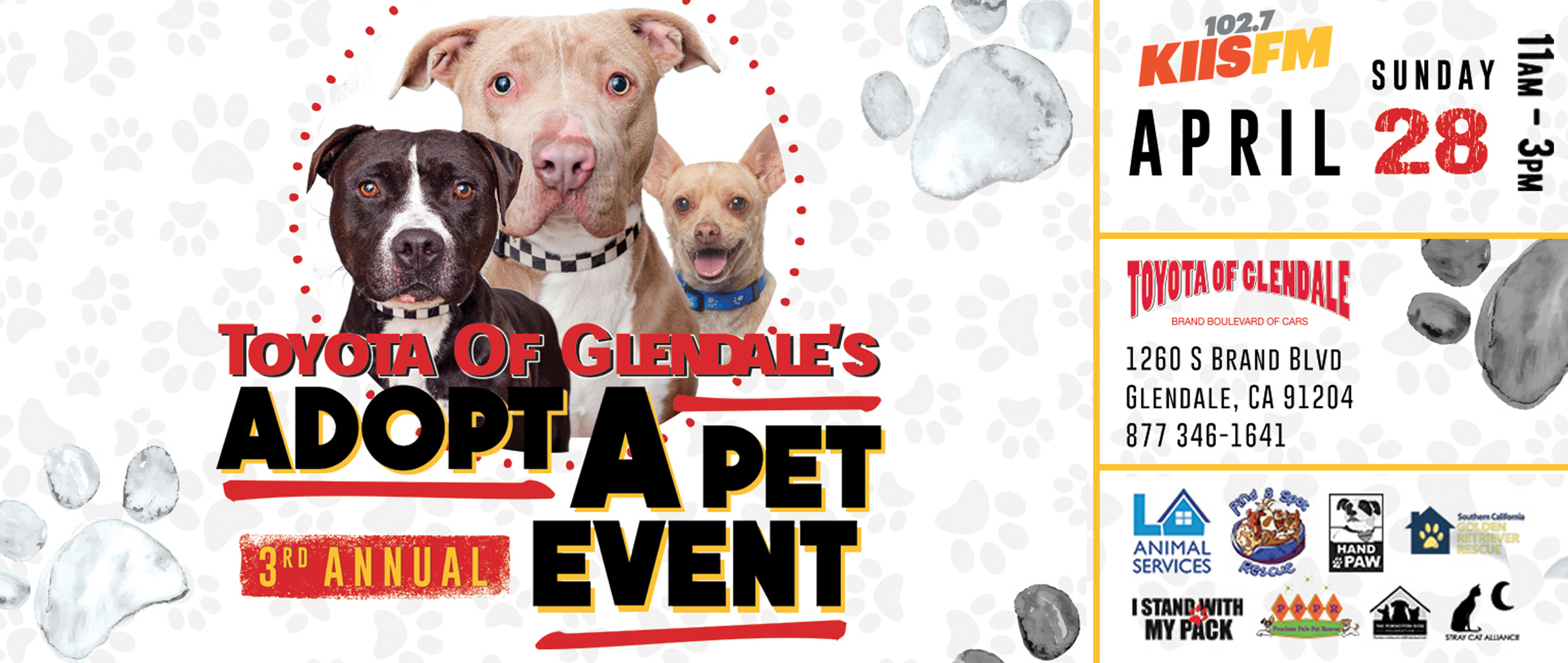 Toyota of Glendale's 3rd Annual Adopt a Pet Event